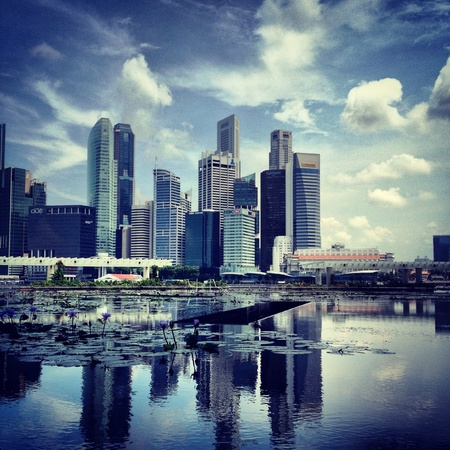 view: Business centre at Singapore  Stock Photo