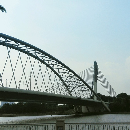 modern: Modern bridges at Putajaya, Malaysia Stock Photo