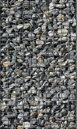 seamless texture; gabion palisade, architecture