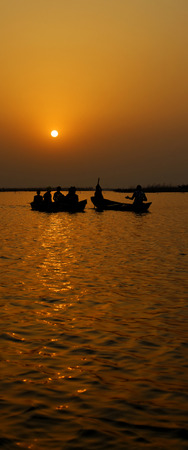 Sunrise on an African lake, Benin Stock Photo - 118450188