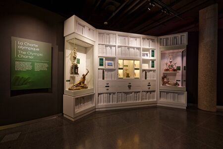 Lausanne, Switzerland, 08.16.2019, Olympic Museum of Lausanne, indoor rooms, the Olympic Charter