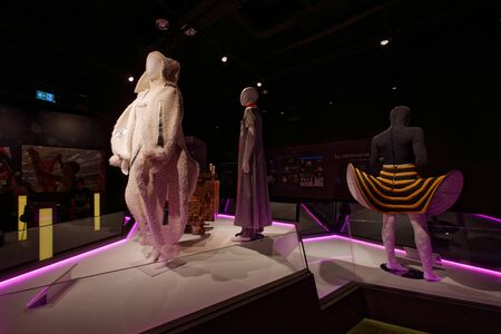 Lausanne, Switzerland, 08.16.2019, Olympic Museum of Lausanne, indoor rooms, show costumes Sajtókép