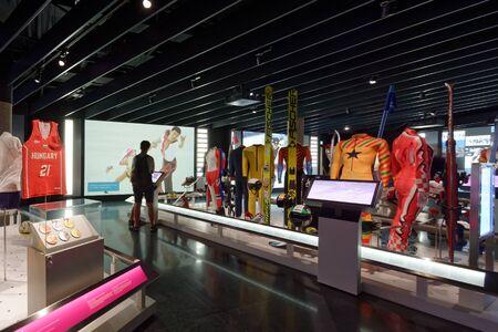Lausanne, Switzerland, 08.16.2019, Olympic Museum of Lausanne, indoor rooms, equipement
