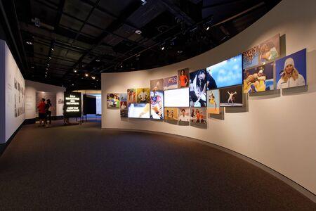 Lausanne, Switzerland, 08.16.2019, Olympic Museum of Lausanne, indoor rooms, meet the Olympians Sajtókép