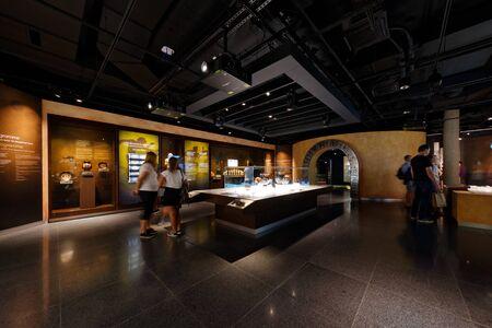 Lausanne, Switzerland, 08.16.2019, Olympic Museum of Lausanne, indoor rooms, athlete preparation