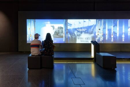 Lausanne, Switzerland, 08.16.2019, Olympic Museum of Lausanne, indoor rooms, the games in time