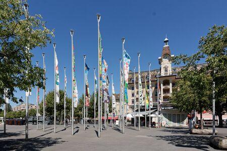 Lausanne, Vaud, Swizerland; 03.09.2019, Place of Navigation in summer