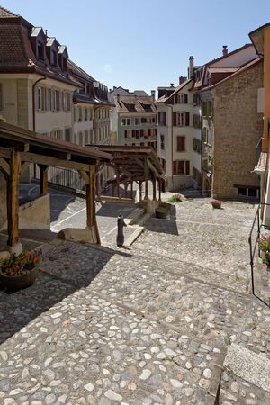 Lausanne, Vaud, Swizerland; 03.09.2019, Market Staircase
