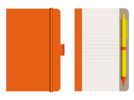55552 Notebooks Pencil Stock Vector Illustration And Royalty Free