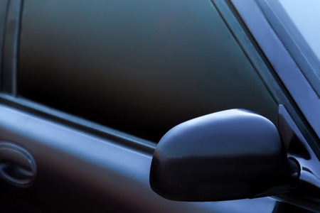The photo of the darkened side glass on the car