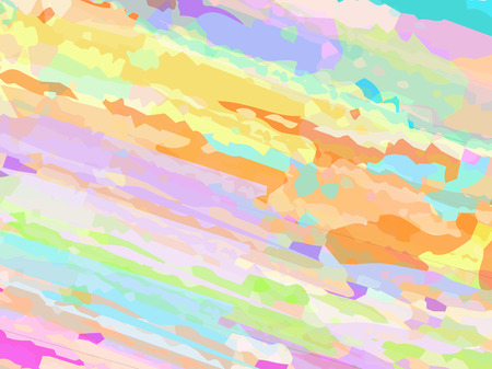 Vector illustration of the abstract color background consisting of brush dabs
