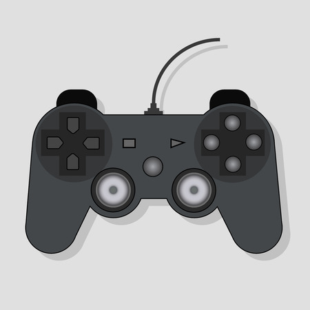 Vector illustration of the gamepad for video of games on a white background