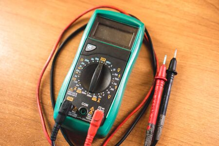 The photo of the device for measurement of current, resistance and tension of the electric circuit