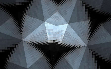 Abstract background from a repeating kaleidoscope view with gray and green dark and bright lines and triangles coming from the center