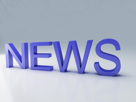Word news text on 3D Stock Photo - 25313510