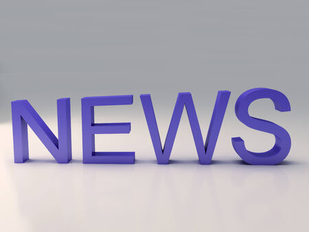 Word news text on 3D Stock Photo - 25313496