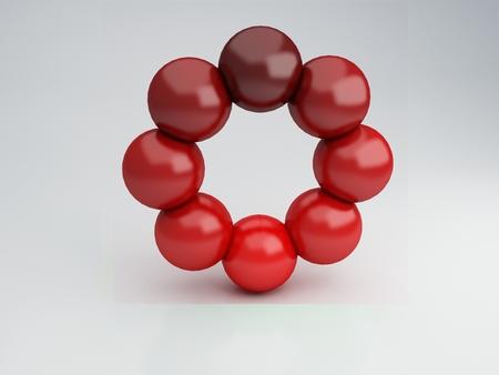 Red circle, 3d Illustration
