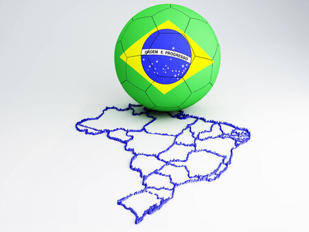 Footbal World Cup  Brazil 2014, 3d illustration illustration