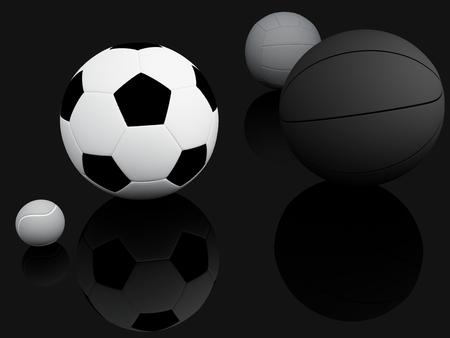 sports equipment: Sports Equipment  3d Illustration