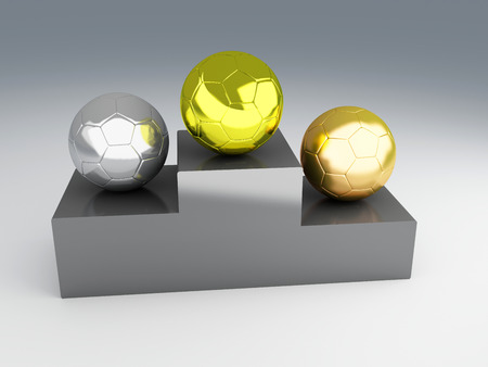 Gold cup football 3d Illustration illustration