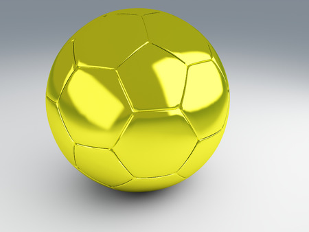 Gold cup football  Sport champion, 3d Illustration illustration