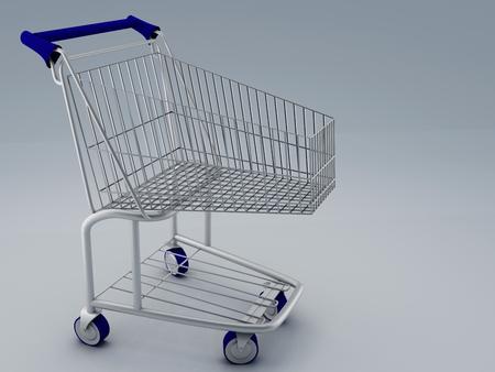 carretilla de mano: carro de la compra