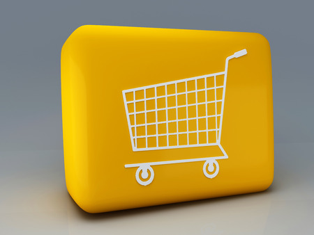 shopping carriage: button shopping cart  Stock Photo