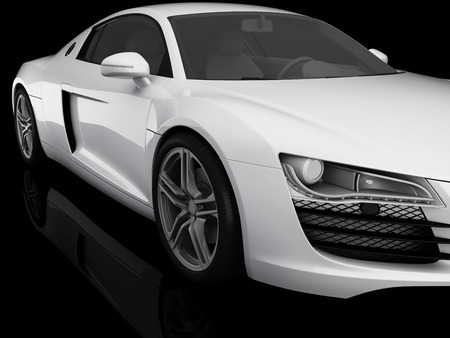 White sports car photo