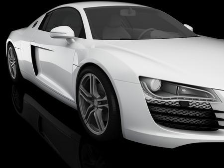 car tire: White sports car