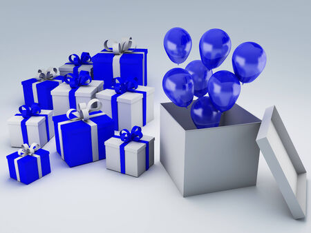 birthday gift box Stok Fotoğraf