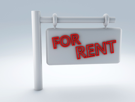 rent: For Rent sign Stock Photo