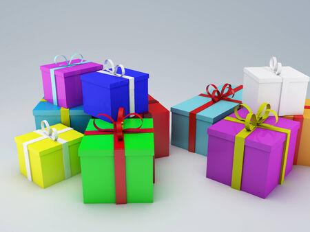 cadeau anniversaire: bo�te de cadeau d'anniversaire Banque d'images
