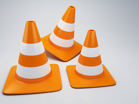 hazard stripes: traffic cone