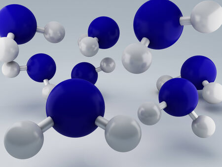 H2O Molecules 3d Stock Photo - 25951262
