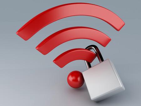 internet  concept: security wifi  internet concept