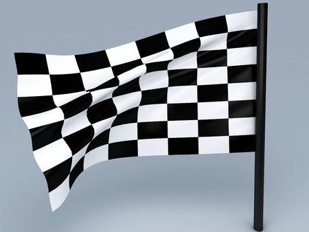 racing sign: racing flag Stock Photo