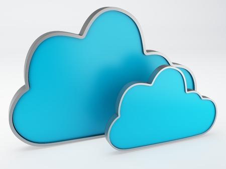 cloud icon 3d photo