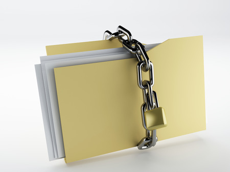 Padlock on folder, Illustration illustration
