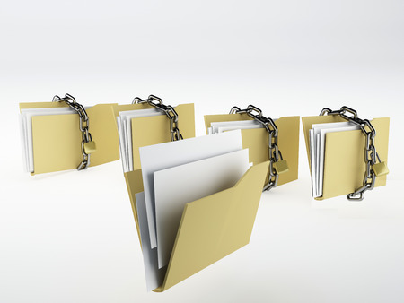 Padlock on folder, Illustration Stock fotó - 26273338