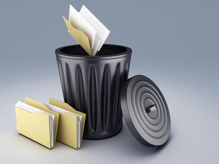 folder trash Foto de archivo