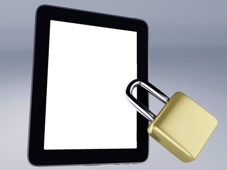 Locked tablet photo