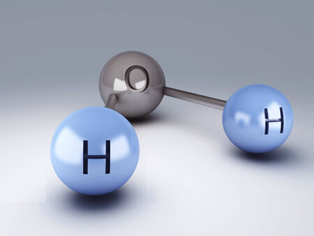 H2O Molecules 3d photo