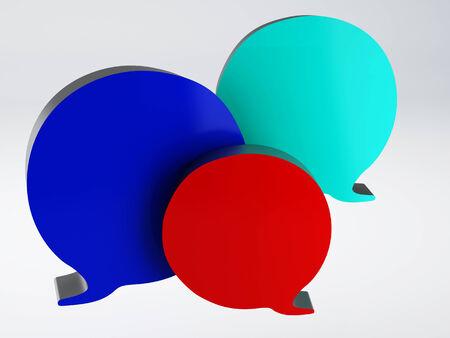 Bubble speech icon photo