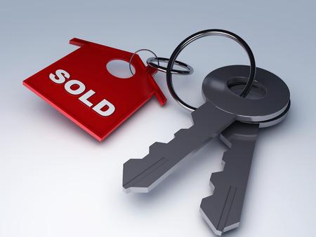 Key mit nach Hause verkauft Standard-Bild - 27841634