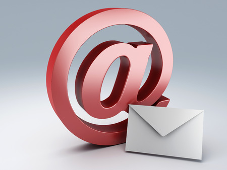 at and  e mail sign   E-Mail concept  3d illustration Stock Photo