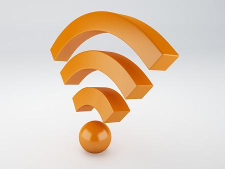 wifi icon  3d illustration illustration