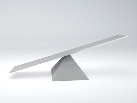 geïsoleerde witte wip evenwicht concept 3D-afbeelding wit