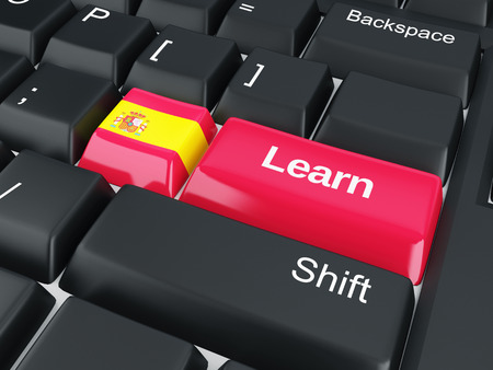 spain Learn  Education concept  3d illustration illustration