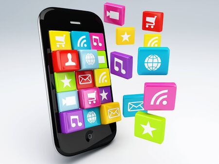 3d mobile phone application wifi  photo