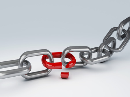 silver break chain 3d photo